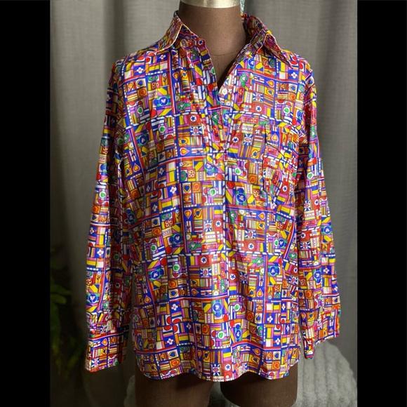 Vintage Obermeyer wind shirt size ladies M
